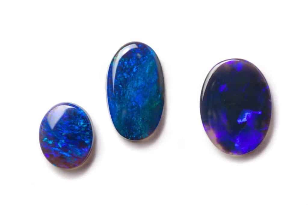 Three Black Australian Opals