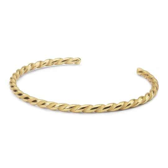 Trollbeads Gold Plated Twisted Bangle