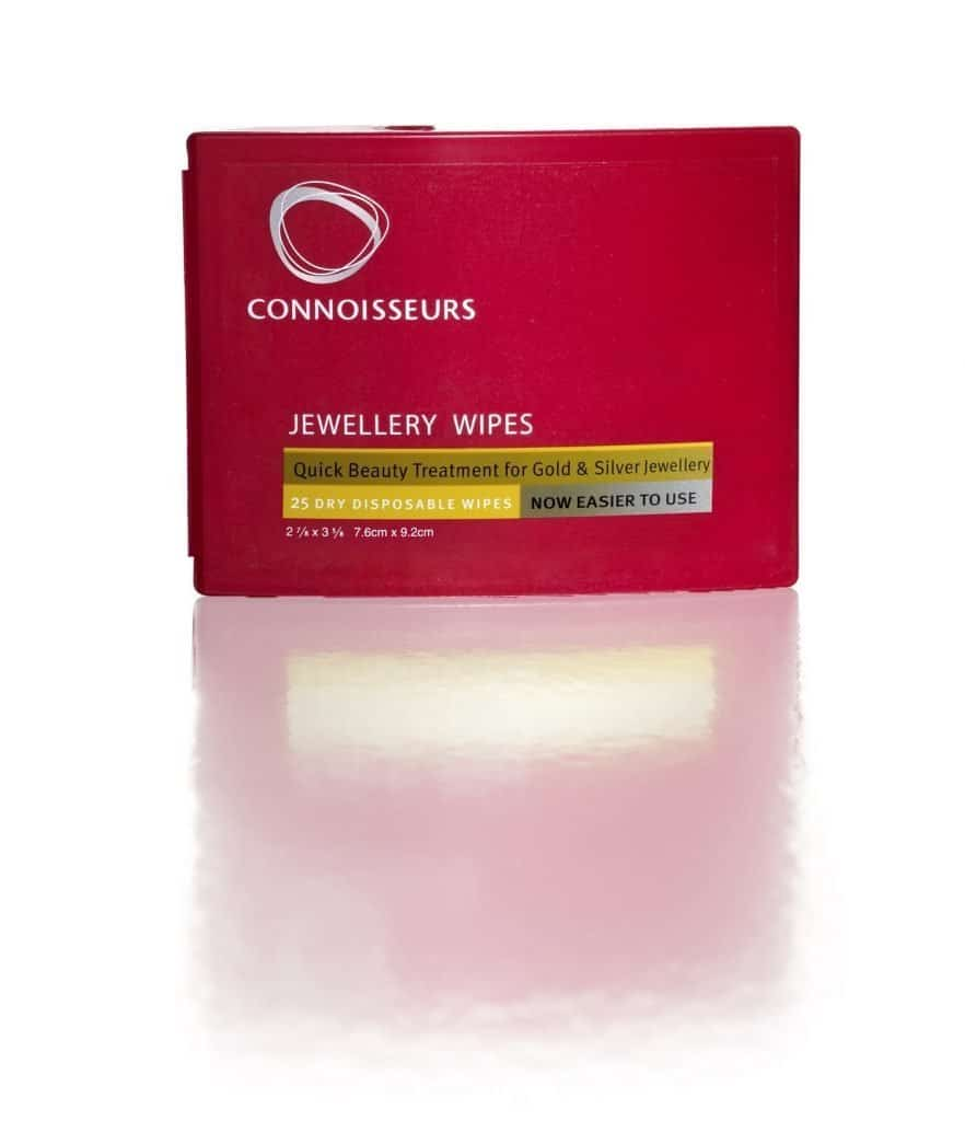A box of Jewellery Cleaning Wipes