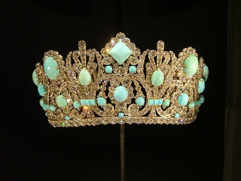 Diamond and turquoise crown given to Marie Louise from Napolean in 1810.