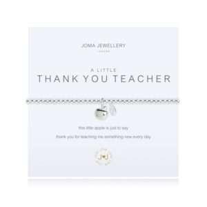 A bracelet on card called A Little thank you teacher