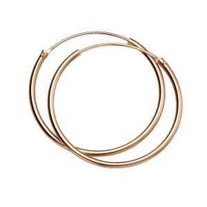 Rose Gold Vermeil Hoop Earrings