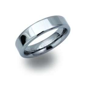 Men's Flat Tungsten ring