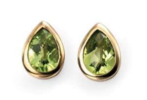 9ct Gold Peridot Teardrop Earrings