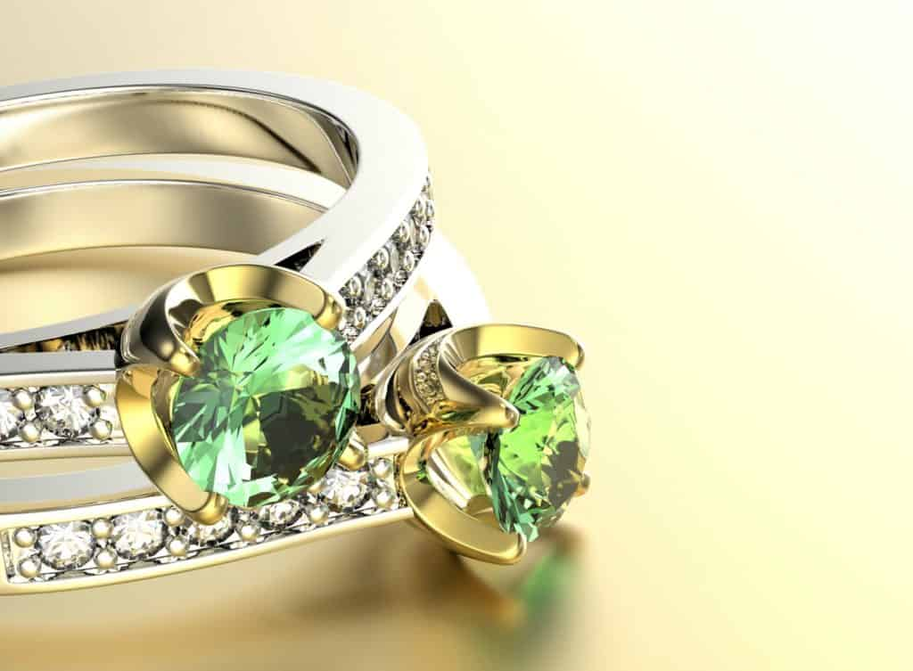 9ct Gold Rings with Peridot