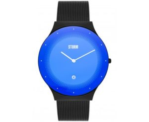 Storm Men's watch with Laser Blue Glass and black mesh strap