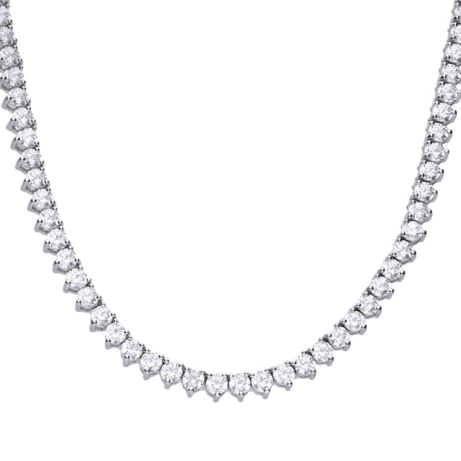 Diamonfire Cubic Zirconia Tennis Necklace