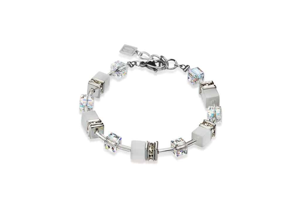 Coeur de Lion White Geo Cube Bracelet