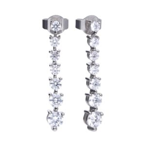Diamonfire Graduated Cubic Zirconia Drop Earrings