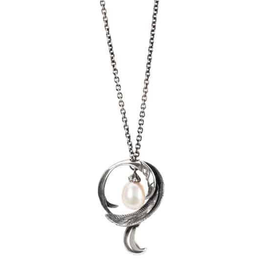 Trollbeads Freedom Feather Fantasy Necklace with Pearl