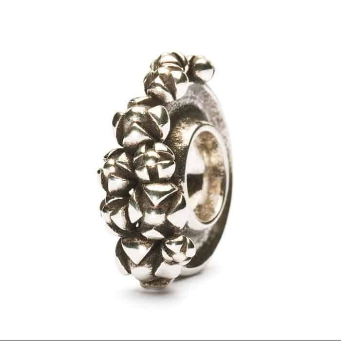 Trollbeads Bougainvillea silver bead