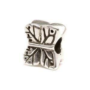 Trollbeads Butterfly Silver bead for modern charm bracelet