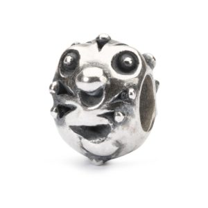 Trollbeads silver charm bead for modern charm bracelet with funny little animal's faces on it called Curious Critter