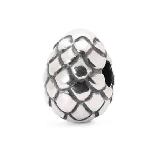 Trollbeads Dragon's Egg silver bead