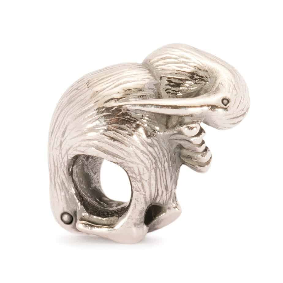 Trollbeads Kiwi Bird Silver Bead