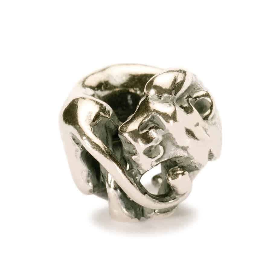Trollbeads silver Leo bead for modern charm bracelet