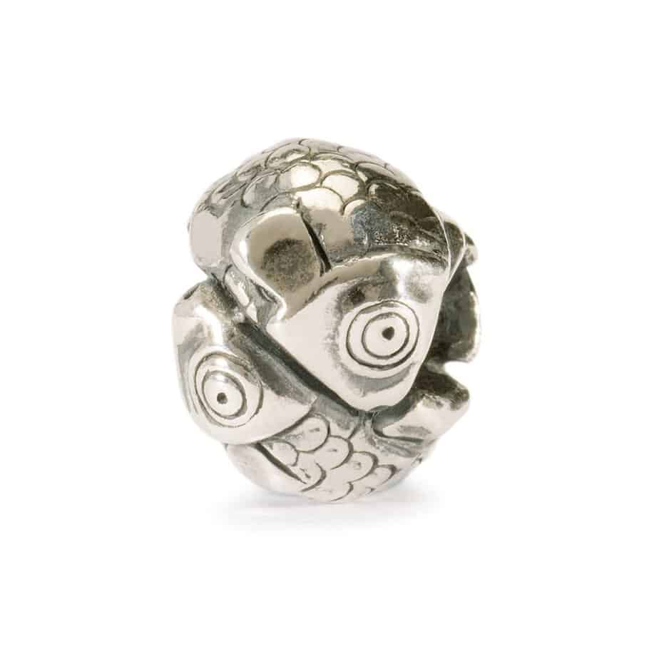 Trollbeads Pisces bead of two intertwined fish for modern charm bracelet