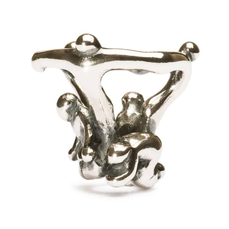 Trollbeads Prayer Pendant for fantasy pendant of three figures holding hands with arms outstretched