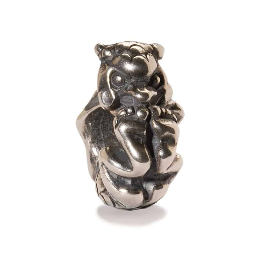 Trollbeads Rolling Troll silver bead for modern charm bracelets with a cheeky troll which wraps around the chain