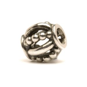Trollbeads silver bead for modern charm bracelet called Royal with crown decorations