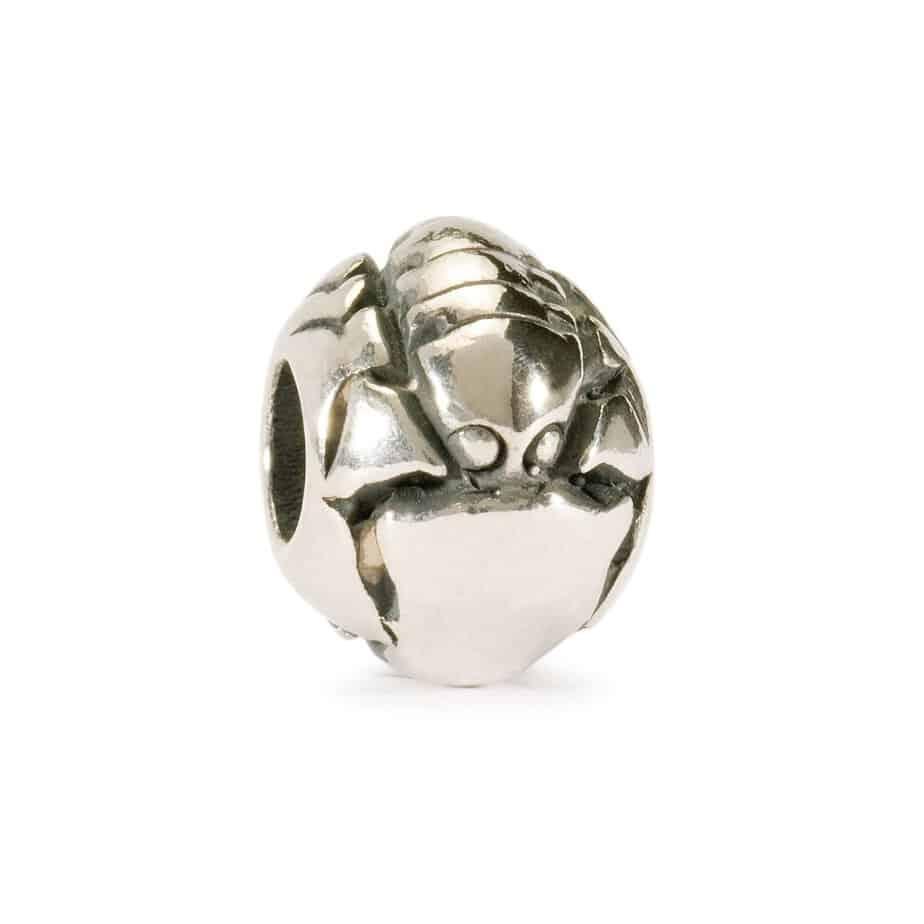 Trollbeads Scorpio silver bead for modern charm bracelet