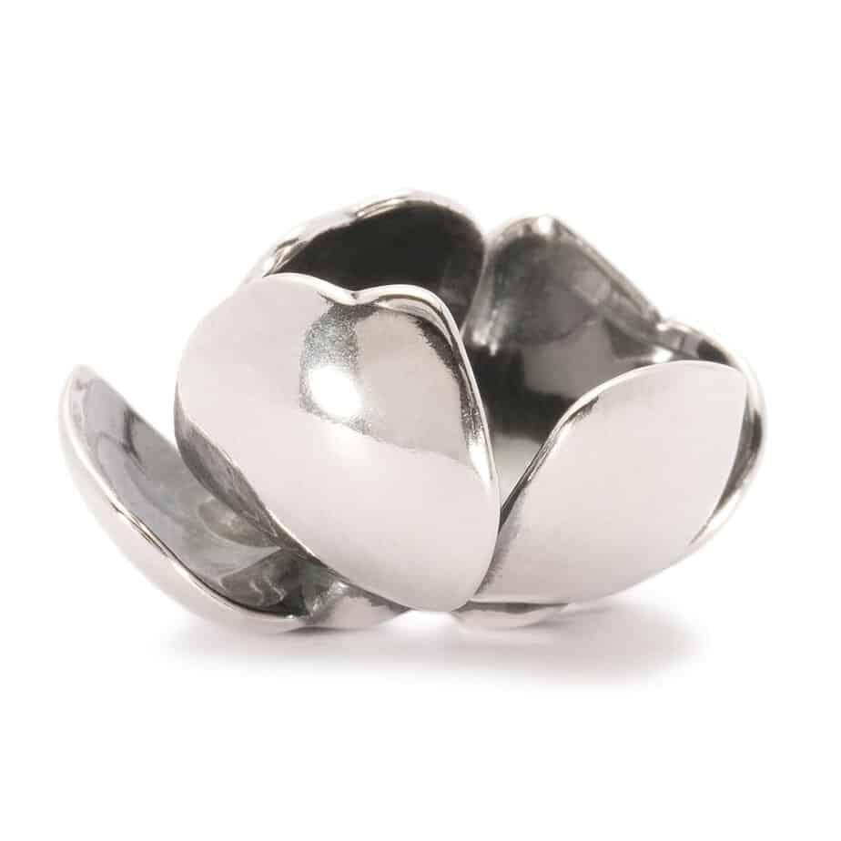 Trollbeads silver open petals Pendant for Fantasy Pendant