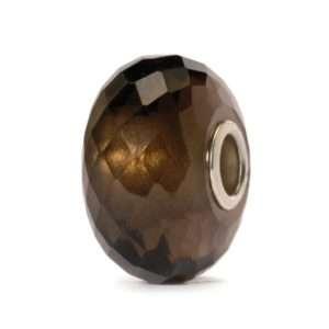 Trollbeads Smoky Quartz Precious Stone Bead for modern charm bracelet