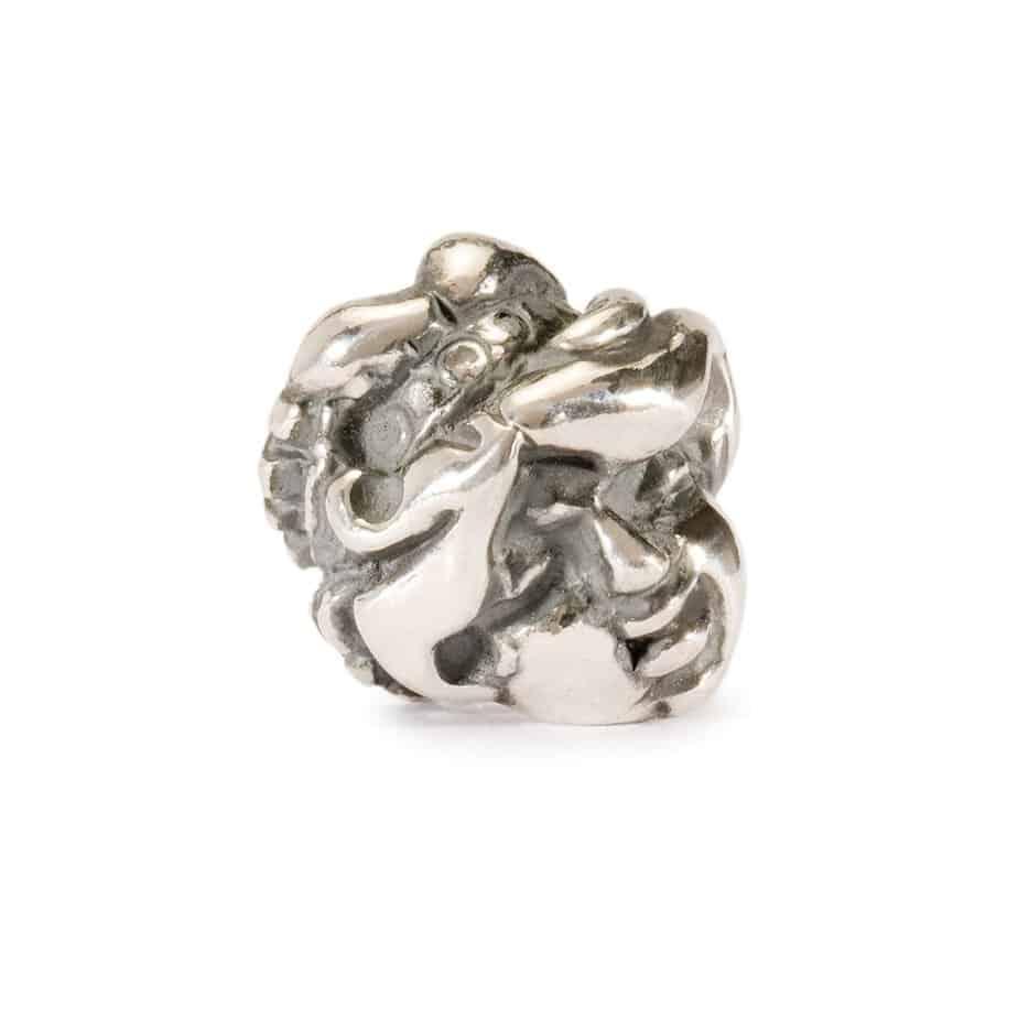 Trollbeads Virgo silver bead for modern charm bracelet