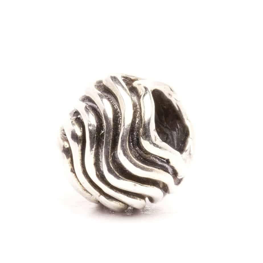 Trollbeads Waves silver bead