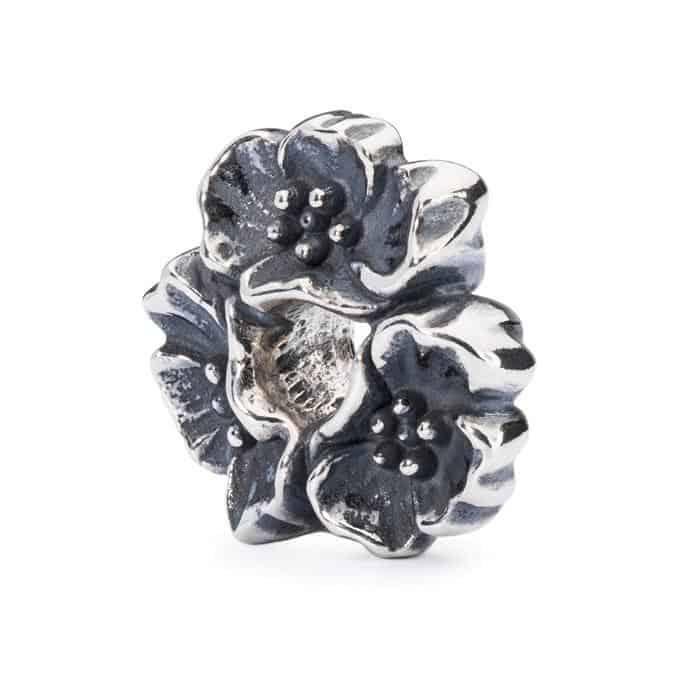 Trollbeads Wild Cherry silver bead