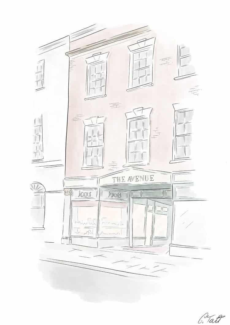 Digital Drawing of Jools Shop in Bridgwater, UK